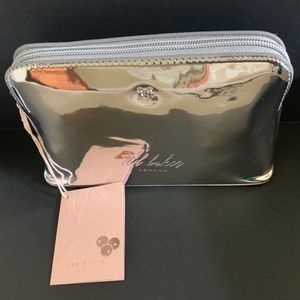 Ted Baker London - Silver Mirrored Makeup Bag